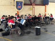 Orquesta San Ignacio visita Colegios de la M. de Santiago