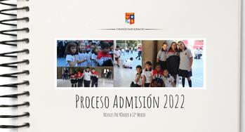 Proceso de Admisión 2022 - Niveles de Pre Kínder a IIº Medio-.